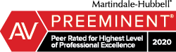 AV Preeminent - Rated highest professional excellence